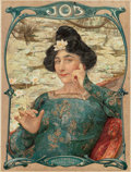Prints, EDGARD MAXENCE (French, 1871-1954) and FRENCH SCHOOL (19th Century). Job Cigarettes and F. Champenois (two works), c... (Total: 2 Items)