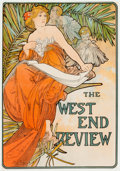 19th Century European, ALPHONSE MUCHA (Czechoslovakian, 1860-1939). FrenchAdvertisements (two works), circa 1897. Color posters. 38-1/4 x12-1... (Total: 2 Items)