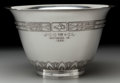 Silver Holloware, American:Bowls, A TIFFANY & CO. ART DECO SILVER TROPHY BOWL, New York, NewYork, circa 1924-1947. Marks: TIFFANY & CO., 20383A, MAKERS,12...
