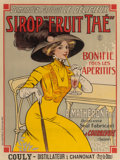"""Prints, French School (19th Century). Sirop """"Fruit Thé"""" . Color poster. 30-1/2 x 23 inches (77.5 x 58.4 cm) (sight). PROPERTY ..."""
