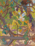 Fine Art - Painting, European, DEAN CORNWELL (American, 1892-1960). Study of Grape Vines. Pastel and gouache on paper. 16 x 21 inches (40.6 x 53.3 cm)...