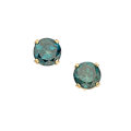 Estate Jewelry:Earrings, Irradiated Blue Diamond, Gold Earrings. ...