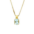 Estate Jewelry:Necklaces, Blue Topaz, Gold Pendant-Necklace. ...