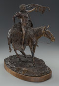 Sculpture, JOHN W. LEARNED (American, 20th Century). Cheyenne. Bronze with brown patina. 15 inches (38.1 cm) high on a 1 inch (2.5 ...