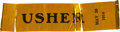 Miscellaneous Collectibles:General, 1914 Indianapolis 500 Usher's Ribbon....