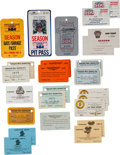 Miscellaneous Collectibles:General, 1970's-2000's Indianapolis 500 Passes Lot of 300+....