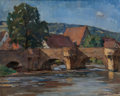Fine Art - Painting, European:Modern  (1900 1949)  , ARTHUR GRIMM (German, 1883-1948). Tranquil River Scene,1921. Oil on canvas. 17-1/4 x 21 inches (43.8 x 53.3 cm). Signed...