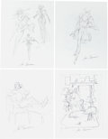 Original Comic Art:Miscellaneous, John Buscema Preliminary Artwork Original Art Group (undated)....(Total: 5 Original Art)