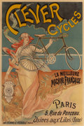 Prints, FRENCH SCHOOL (Late 19th century). Clever Cycles. Color poster. 45-1/4 x 30-1/2 inches (114.9 x 77.5 cm) (sight). Publis...