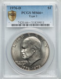 Eisenhower Dollars, 1976-D $1 Type One MS66+ PCGS Secure....