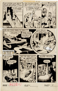 "Matt Baker Journey Into Fear #1 ""Preview of Chaos!"" Page 4 Original Art (Superior Publishers, 1951)"
