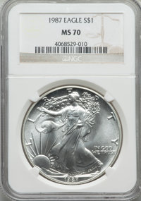 1987 $1 Silver Eagle MS70 NGC....(PCGS# 9808)
