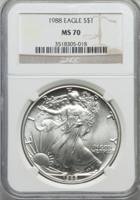 1988 $1 Silver Eagle MS70 NGC....(PCGS# 9816)