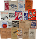 Miscellaneous Collectibles:General, 1935-72 Small Track Auto Racing Programs Lot of 21....