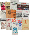 Miscellaneous Collectibles:General, 1938-81 Auto Racing Program Lot of 20. ...