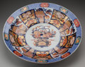 Asian:Chinese, A LARGE JAPANESE IMARI PORCELAIN CHARGER, Meiji period. 3-5/8inches high x 21-3/4 inches diameter (9.2 x 55.2 cm). ...