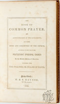 Books:Religion & Theology, The Book of Common Prayer...New York: H. & S. Raynor, 1842. Contemporary morocco ruled in gilt. All edges gilt. Spine su...