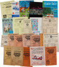 Miscellaneous Collectibles:General, 1950-62 Iowa State Fair Grounds Race Programs Lot of 29....