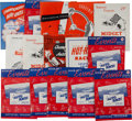 Miscellaneous Collectibles:General, 1939-61 Soldier Field Automobile Racing Programs Lot of 15....