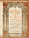 Books:Religion & Theology, Ambrose Fisher. A Defence of the Liturgie of The Church ofEngland. London: W. S. for Robert Milbourne, 1630. Modern...