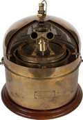 Maritime:Decorative Art, US NAVY BRASS SHIP'S COMPASS. Manufactured by C.G. Conn Ltd.Elkhart, Indiana. . For decades, C.G. Conn Ltd. provided variou...