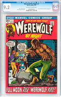 Bronze Age (1970-1979):Horror, Werewolf by Night #1 (Marvel, 1972) CGC NM- 9.2 Off-white to whitepages....