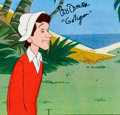 Animation Art:Production Cel, The New Adventures of Gilligan Bob Denver Signed GilliganProduction Cel (Filmation, 1974)....