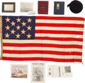 Military & Patriotic:WWI, Historic Archive of Flags and Related Material From the Cruiser USS Baltimore (C-3), Circa 1891-1918....