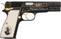 Handguns:Semiautomatic Pistol, Portuguese Browning 150 Years Commemorative Hi-Power Semi-Automatic Pistol....