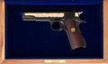 Handguns:Semiautomatic Pistol, Cased Commemorative Colt Government Model Semi-Auto Pistol. ...