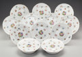 Ceramics & Porcelain, British, A SET OF TWELVE ENGLISH PORCELAIN COMPOTES, late 19th century. 2 inches high x 8-1/4 inches diameter (5.1 x 21.0 cm). ... (Total: 12 Items)