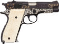 Handguns:Semiautomatic Pistol, Custom Engraved Smith & Wesson Model 39-2 Semi-Automatic Pistol....