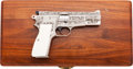 Handguns:Semiautomatic Pistol, Cased and Shostle Engraved Browning High Power Semi-Automatic Pistol....