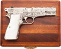 Handguns:Semiautomatic Pistol, Cased Shostle Engraved FN Browning High Power Semi-Automatic Pistol....