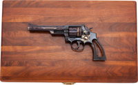 Cased and Shostle Engraved Smith & Wesson Model M53 Double Action Revolver