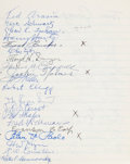 Miscellaneous Collectibles:General, 1966 Racing Greats Multi Signed Notebook....