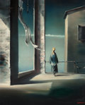Fine Art - Painting, Russian, ROBERT WATSON (American, 1923-2004). Looking Out, 1951. Oilon canvas. 22 x 18 inches (55.9 x 45.7 cm). Signed and dated...