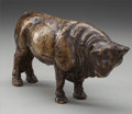 Fine Art - Sculpture, American, AMERICAN SCHOOL (20th Century). Buffalo. Bronze with brownpatina. 5 inches (12.7 cm). ...
