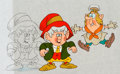 Animation Art:Production Cel, Keebler Cookies Commercial - Ernie and Baker Production Cel Setupand Animation Drawing Group (Keebler Company, c. 1980-90s)....(Total: 3 Original Art)