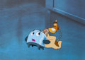 Animation Art:Production Cel, Brave Little Toaster Goes To Mars Production Cel (HyperionPictures, 1988).... (Total: 2 Original Art)