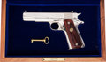 Handguns:Semiautomatic Pistol, Cased Colt Sam Colt Commemorative Government Model Semi-Automatic Pistol....