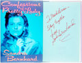 Books:Biography & Memoir, Sandra Bernhard. INSCRIBED. Confessions of a Pretty Lady.New York: Harper & Row, [1988]. First Edition. Inscribed...