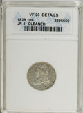 Bust Dimes: , 1829 10C Small 10C--Cleaned--ANACS. VF30 Details. JR-4. NGC Census:(11/200). PCGS Population (2/175). Mintage: 770,000. Nu...