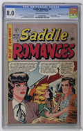 "Golden Age (1938-1955):Romance, Saddle Romances #9 Davis Crippen (""D"" Copy) pedigree (EC, 1949) CGCVF 8.0 Cream to off-white pages. Formerly called Saddl..."