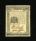 Colonial Notes:Pennsylvania, Pennsylvania April 25, 1776 18d Choice New. Bold signatures andbright paper are two of the fine qualities of this note whic...