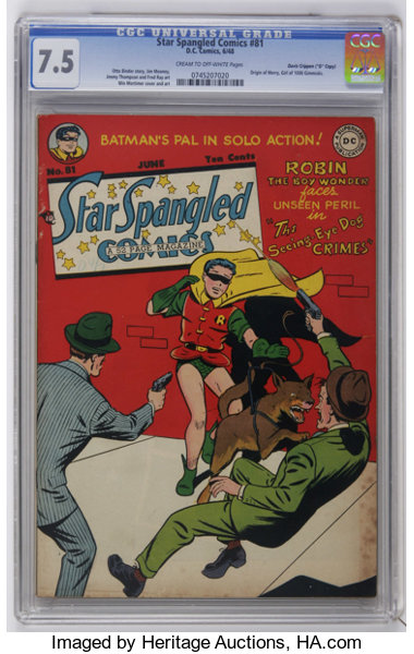 Star Spangled Comics 81 Davis Crippen D Copy Pedigree Dc
