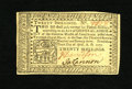 Colonial Notes:Pennsylvania, Pennsylvania April 10, 1777 20s Gem New. A truly exceptionalexample of this higher denomination note which is rarely ever e...