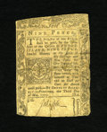 Colonial Notes:Rhode Island, Rhode Island May 3, 1775 9d Very Fine. This is a very difficultnote to obtain in any grade as evidenced by the fact that th...