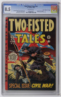 "Golden Age (1938-1955):War, Two-Fisted Tales #35 Davis Crippen (""D"" Copy) pedigree (EC, 1953)CGC VF+ 8.5 Off-white pages. Special Civil War issue. Civi..."