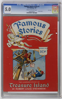 Famous Stories Book #1 Treasure Island - Lost Valley pedigree (Dell, 1942) CGC VG/FN 5.0 Cream to off-white pages. Only...